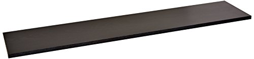 Rubbermaid 4B2500BLA Laminated Wood Closet Shelf, 10-Inch by 3-Feet, Black (Black Wood Shelf Bracket compare prices)