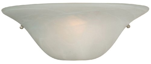 Yosemite Home Decor 9971-1Mc Redwood Halfmoon Wall Sconce With Frosted Alabaster Shade, 1-Light, Satin Nickel