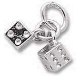 Rembrandt Charms Dice Charm - Sterling Silver