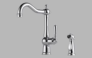 Brizo 61136LF-PC Tresa Single Handle Kitchen Faucet with Spray – Chrome