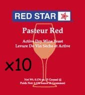 Pasteur Red Dried Wine Yeast (10 Packets)