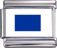 """Italian Charms Module """"S"""" - Sierra - Internationales Flaggenalphabet modul by..."""
