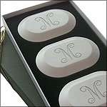 Personalized Soap Gifts; Ultimate 3 Soap Luxury Gift Set with Initial | Kai