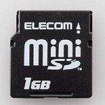 ELECOM miniSDメモリカード 1GB MF-FMISD01G