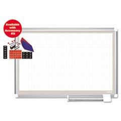 - All-Purpose Planner w/ Accessories, 1x2 Grid, 36x24, Aluminum Frame -