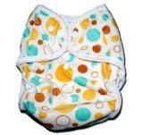 "One Size Fit All- Diaper Covers for Prefolds or Regular Inserts PUL MINKY - CIRCLES by ""BubuBibi"""