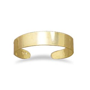 14 Karat Gold Plated 4mm Toe Ring