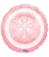 "18"" Pink Communion Celebration - 1"