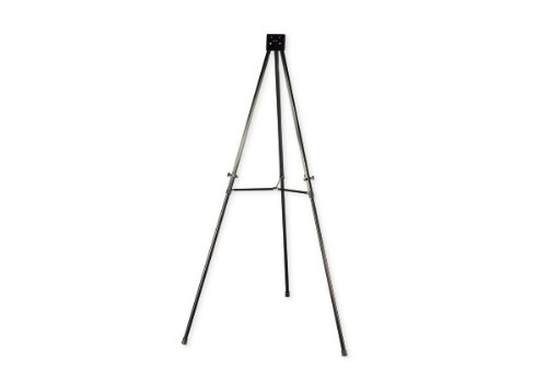 Quartet Aluminum Heavy-Duty Telescoping Display Easel, Black Finish (56E)
