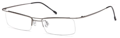 Unisex Semi-Rimless Glasses Frames Metallic Prescription ...
