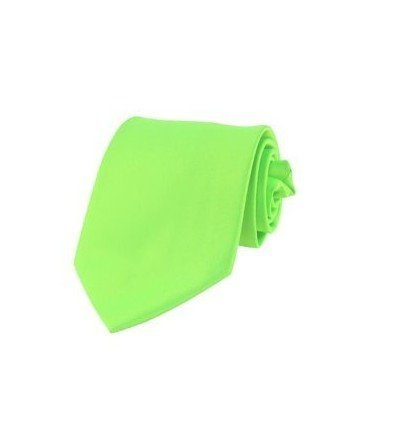 New Mens Solid Color Neon Green Necktie Neck Tie (Neon Color Neck Ties compare prices)