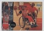 Michael Jordan/(Playing wheel chair basketball with child) Chicago Bulls (Basketball Card) 1994 Upper Deck Jordan Rare Air #70 at Amazon.com