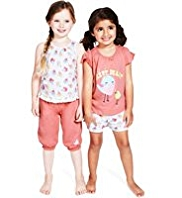 2 Pack Pure Cotton Tweet Pyjamas