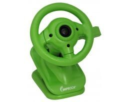 New-WC100 Steering Wheel Webcam with Built-in Mic Green - IMPWC100G
