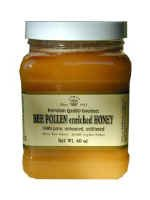 RAW HONEY ENRICHED WITH BEE POLLEN 5-LB