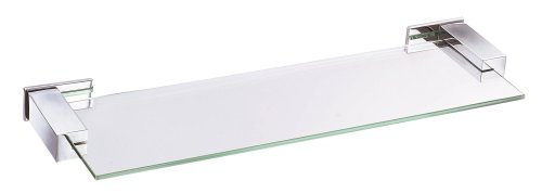 Danze D446134 Sirius 18-Inch Glass Shelf, Chrome