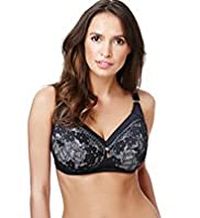 Total Support Non-Wired Overlaid Lace B-E Bra