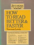 How to Read Better and Faster (0690015283) by Lewis, Norman