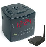 SluethGear Covert Digital Wireless Cube Alarm Clock w/ RCA Receiver