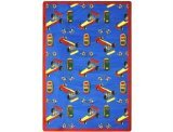 "Joy Carpets Playful Patterns Children's Pit Stop Area Rug, Blue, 7'8"" x 10'9"""