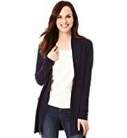 M&S Collection Cashmilon™ Open Front 2 Pockets Cardigan