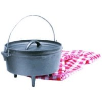 Texsport Cast Iron Dutch Oven - 8 Quart
