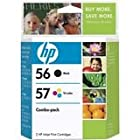 HP 56/57 C9321BN Black/Color Ink Cartridges Combo Pack