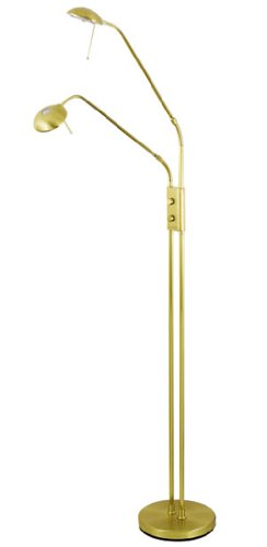 Juma 2 Light Adjustable Floor Standard Satin Brass Finish