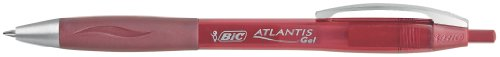 BIC Atlantis - Bolígrafo gel retráctil, color rojo