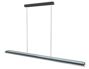 Eglo 91079A Mysterio 1X28.2W Led Linear Pendant With Remote Integrated Color Cha, Aluminum And Chrome