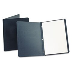 Report Cover, 3 Fasteners, Panel And Border Cover, Dark Blue, 25/box By: Oxford