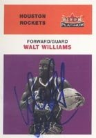 Walt Williams Houston Rockets 2001 Fleer Platinum Autographed Hand Signed Trading... by Hall of Fame Memorabilia