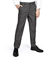 Autograph Straight Leg Checked Suit Trousers