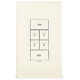 Insteon Keypad Dimmer Switch (Dual-Band), 6-Button, Ivory