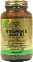 Solgar Vitamin E 268mg 400 UI 50 Vegetable Softgels