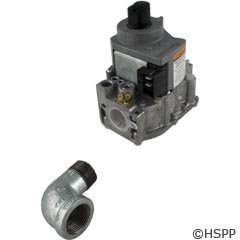 Zodiac R0386600 Natural Gas Valve with Street Elbow Replacement for Zodiac Jandy LX/LT Low NOx Pool and Spa Heater