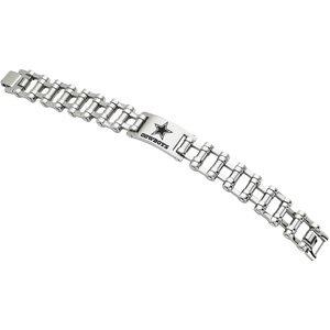 Stainless Steel Dallas Cowboys Team Logo Bracelet 8 Inch - JewelryWeb