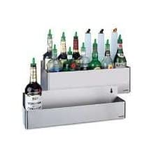 "San Jamar B5522D Stainless Steel Double Rail Speed Rack Bottle Holder, 21-1/8"" Width x 7-5/8"" Height x 8"" Depth"
