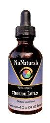 NuNaturals Pure Liquid Cinnamon Extract, 2 Ounces (Pack of 2)