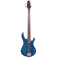 Arbor Electric Bass Guitar, AB400 Transparent Blue