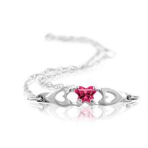 Genuine IceCarats Designer Jewelry Gift 10K White Gold Bfly Cz Birthsto Brc W/Box. July Brc W/Box Bfly Cz Birthsto Brc W/Box In 10K White Gold