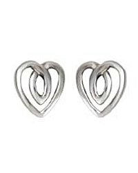 Kit Heath Tiny Celtic Heart Post Earrings