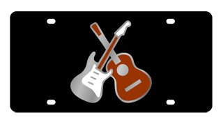 Electric & Acoustic Guitars License Plate