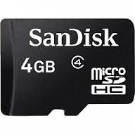 AutoX SanDisk 4GB Class 4 microSDHC Memory Card
