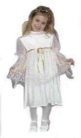 Infant or Toddler Deluxe Little Angel Costume Dress in Panne' Velvet