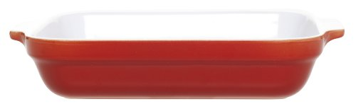 Emile Henry 12-By-8-1/2-Inch Lasagna Baker, Cerise Red