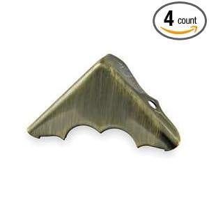 Battalion 1XMP5 Corner Brace, Brass, 2 Holes, PK 4