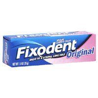 Fixodent Denture Adhesives Cream, Original - 1.4 Oz