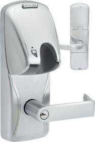 Schlage Ad200Cy50-Mg-Rho-626-Pd Offline Cylindrical Magnetic Stripe Insertion Electronic Lock W/ Cyl