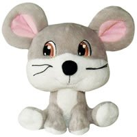 Dog It Luvz Plush Toy Mouse Large – Dog It 73011